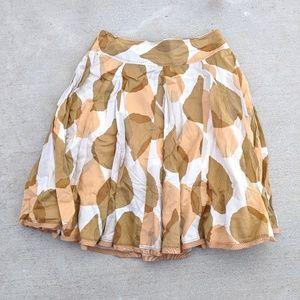 Dresses & Skirts - Anthropologie Odille Tallow Blade Leaf Print Skirt